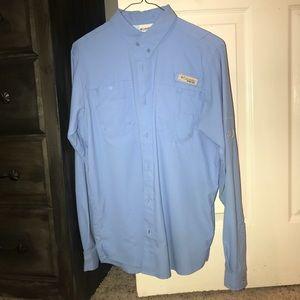 Blue Columbia fishing shirt